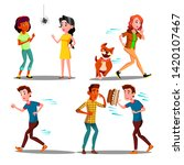 color design afraid character... | Shutterstock .eps vector #1420107467