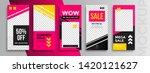 trendy editable instagram... | Shutterstock .eps vector #1420121627
