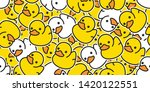 duck rubber seamless pattern... | Shutterstock .eps vector #1420122551