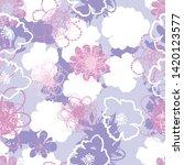 seamless tender color pattern...   Shutterstock .eps vector #1420123577