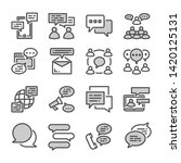 people communication  dialogue... | Shutterstock .eps vector #1420125131