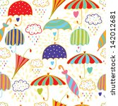 cute umbrellas. seamless vector ...