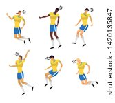woman soccer players set in... | Shutterstock .eps vector #1420135847