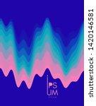 aurora borealis. abstract wavy... | Shutterstock .eps vector #1420146581