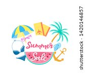 summer sale poster with...   Shutterstock .eps vector #1420146857