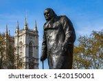 Winston Churchill Statue In...