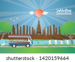 travel and tourism concept to... | Shutterstock .eps vector #1420159664