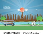 travel and tourism concept to... | Shutterstock .eps vector #1420159667