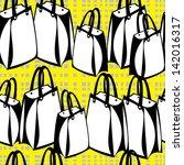 seamless pattern shopping paper ... | Shutterstock . vector #142016317
