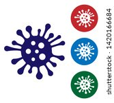 blue bacteria icon isolated on... | Shutterstock .eps vector #1420166684