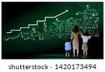 teacher hand in hand male... | Shutterstock . vector #1420173494