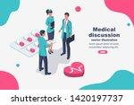 teamwork of doctors. medical... | Shutterstock .eps vector #1420197737