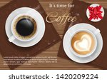 coffee for two   vector... | Shutterstock .eps vector #1420209224