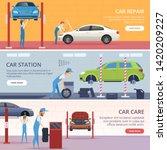 car service banners. mechanic... | Shutterstock .eps vector #1420209227