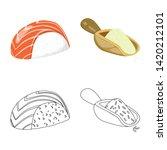 vector illustration of crop and ... | Shutterstock .eps vector #1420212101