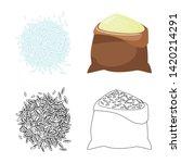 vector illustration of crop and ... | Shutterstock .eps vector #1420214291