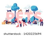 people and pets concept. male... | Shutterstock .eps vector #1420225694
