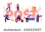 people in post office concept ... | Shutterstock .eps vector #1420225697