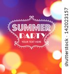 summer party poster. vector | Shutterstock .eps vector #142023157