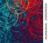 2d illustration. abstract... | Shutterstock . vector #1420234214