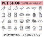 pet shop vector flat line icon... | Shutterstock .eps vector #1420274777