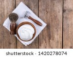wooden shaving razor with...