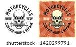 skull of mechanic with wrench... | Shutterstock .eps vector #1420299791