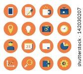 icon set | Shutterstock .eps vector #142030207