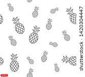 tropical ananas pineapple fruit ...   Shutterstock .eps vector #1420304447