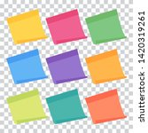 set of 9 colorful sheets of... | Shutterstock .eps vector #1420319261