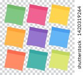 set of 9 colorful sheets of... | Shutterstock .eps vector #1420319264