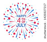 greeting card with fireworks... | Shutterstock .eps vector #1420327217