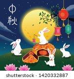 mid autumn festival vector... | Shutterstock .eps vector #1420332887