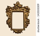 vector vintage border frame... | Shutterstock .eps vector #142033309