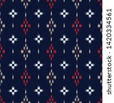 seamless ikat and tribal... | Shutterstock .eps vector #1420334561