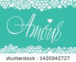 love hand drawn calligraphy   ... | Shutterstock .eps vector #1420342727