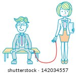 red thread fate   Shutterstock . vector #142034557