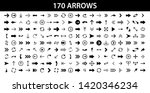 arrows set of 170 black icons.... | Shutterstock .eps vector #1420346234