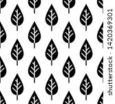 leaf icon seamless pattern... | Shutterstock .eps vector #1420369301