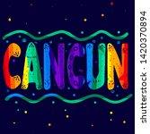 Cancun   Multicolored Funny...