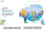 modern city ecology. cartoon... | Shutterstock .eps vector #1420376354