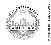 vector abu dhabi city badge ... | Shutterstock .eps vector #1420381961