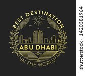 vector abu dhabi city badge ... | Shutterstock .eps vector #1420381964