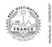vector france city badge ... | Shutterstock .eps vector #1420381967
