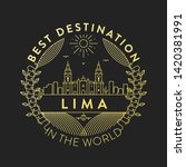 vector lima city badge  linear... | Shutterstock .eps vector #1420381991