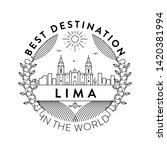 vector lima city badge  linear... | Shutterstock .eps vector #1420381994