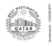 vector qatar city badge  linear ... | Shutterstock .eps vector #1420381997