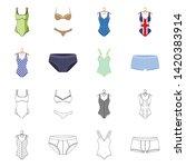 vector design of bikini and...   Shutterstock .eps vector #1420383914