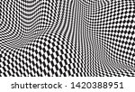 Optical Illusion Wave. Chess...