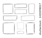 vector hand drawn squares ... | Shutterstock .eps vector #1420398017